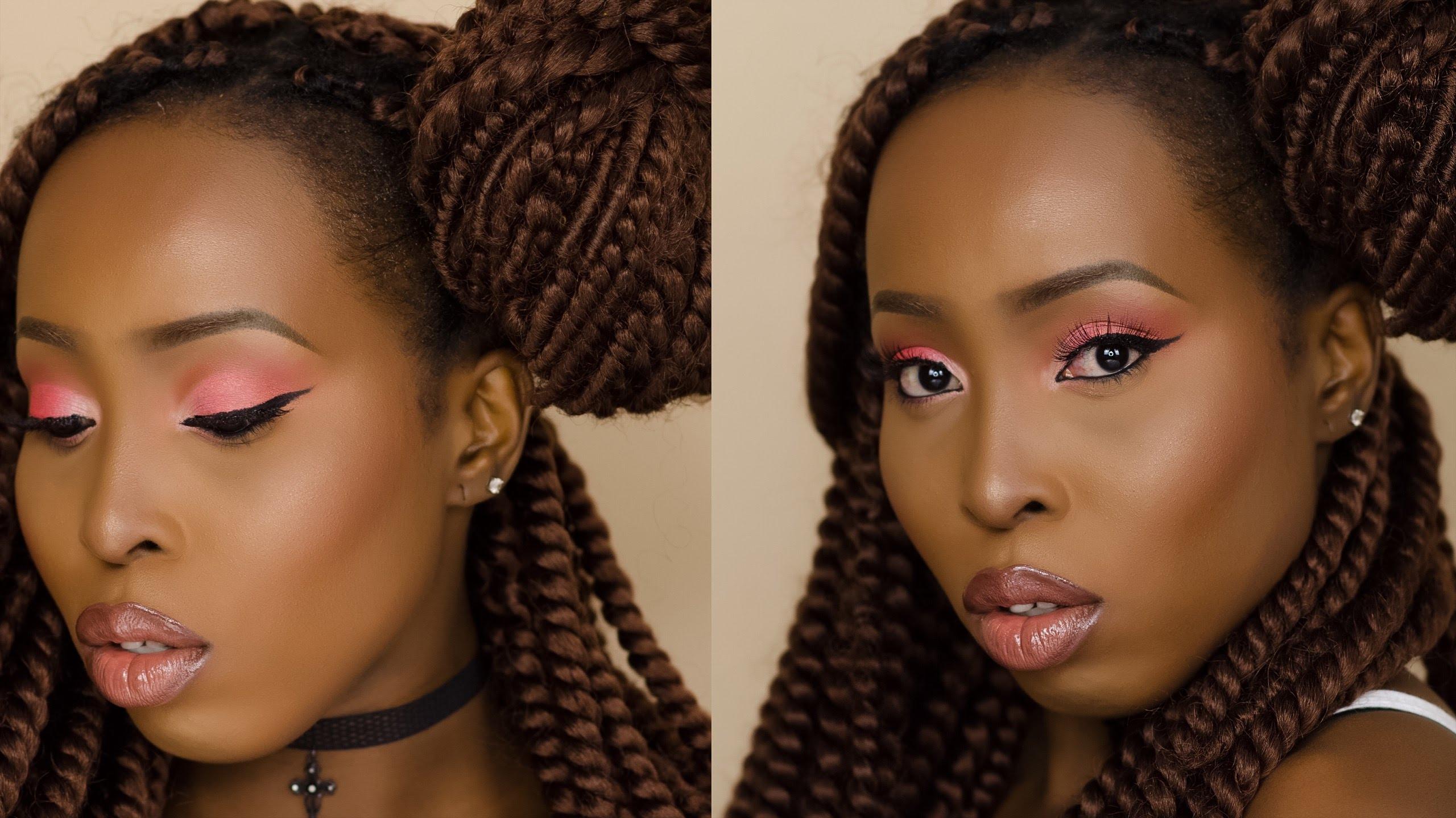 natural makeup tutorial dark skin makeup tutorial, dark skin makeup